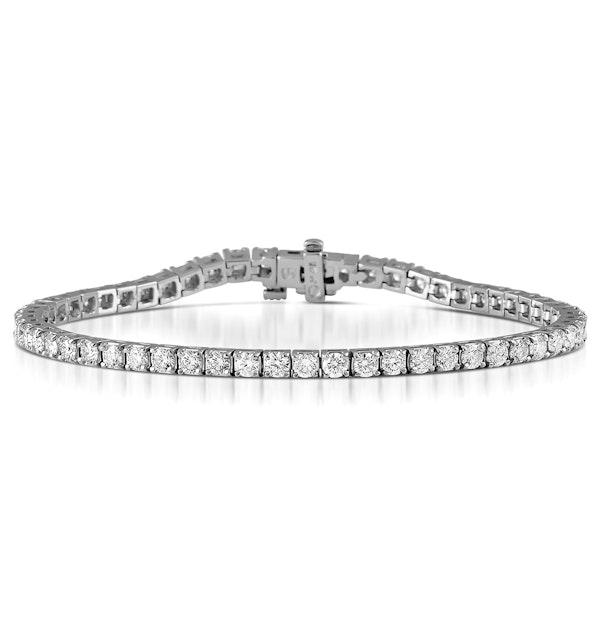 Diamond Tennis Bracelet Chloe 6.00ct Premium Claw Set 18K White Gold - image 1