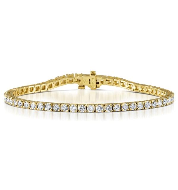 Diamond Tennis Bracelet 18K Gold Chloe 6.00ct G/Vs - image 1
