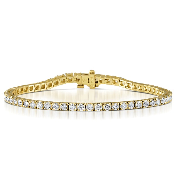 Diamond Tennis Bracelet 18K Gold Chloe 5.00ct G/Vs - image 1