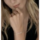 Diamond Tennis Bracelet 2.00ct H/Si Rubover Set in 18K Gold - image 2