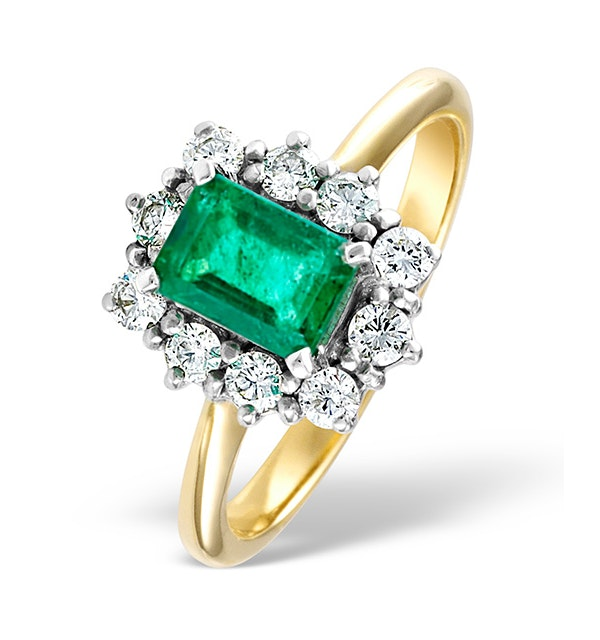 Emerald 1.00ct And Diamond 0.50ct 18K Gold Ring - image 1