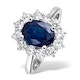 Sapphire 2.30ct And Diamond 1.00ct 18K White Gold Ring - image 1