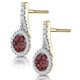 0.75ct Ruby Diamond Halo Earrings in 18K Gold - Asteria Collection - image 3
