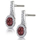 0.75ct Ruby and Diamond Halo Earrings 18KW Gold - Asteria Collection - image 3