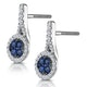 0.75ct Sapphire and Diamond Halo Asteria Earrings 18KW Gold - image 3