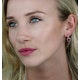 1.05ct Ruby and Diamond Halo Earrings in 18K Gold - Asteria Collection - image 2