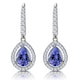 1.4ct Tanzanite and Diamond Halo Earrings 18KW Gold Asteria Collection - image 1
