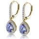 1.4ct Tanzanite and Diamond Halo Earrings 18K Gold Asteria Collection - image 3