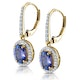 1.6ct Tanzanite and Diamond Halo Earrings 18K Gold Asteria Collection - image 3
