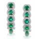 1.20ct Emerald and Diamond Halo Asteria Earrings in 18K Gold - image 1