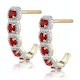 1.50ct Ruby and Diamond Halo Asteria Earrings in 18K Gold - image 2