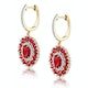 2.50ct Ruby Asteria Collection Diamond Drop Earrings in 18K Gold - image 2