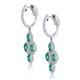 1.10ct Emerald Asteria Diamond Drop Earrings in 18K White Gold - image 2