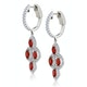 1.40ct Ruby Asteria Collection Diamond Drop Earrings 18K White Gold - image 2