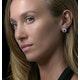2.20ct Tanzanite Asteria Diamond Halo Earrings in White 18K Gold - image 3