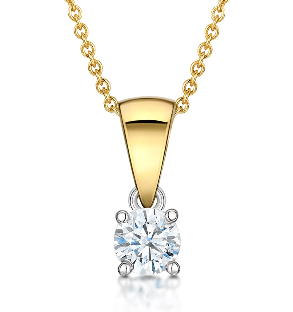 Chloe 18K Gold Diamond Solitaire Necklace 0.25CT H/SI