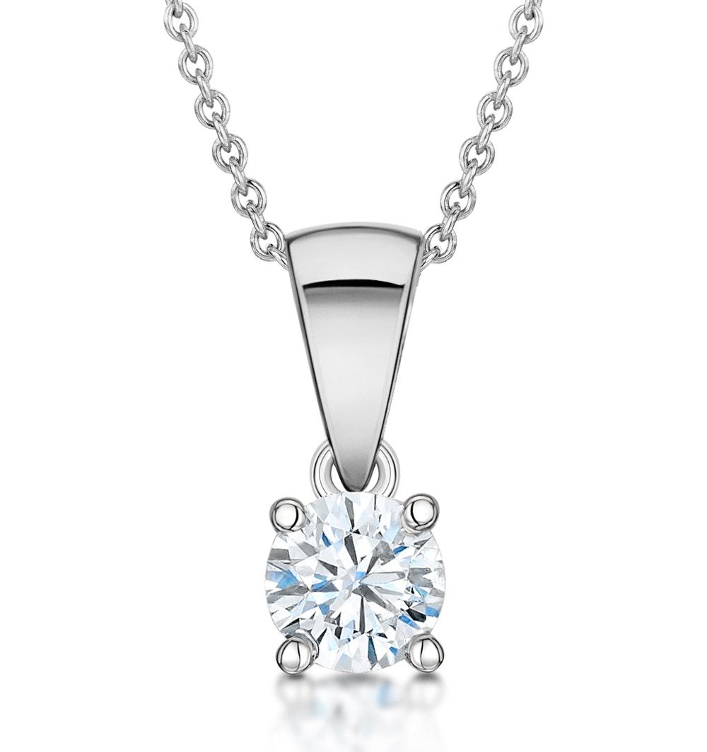 Chloe Platinum Diamond Solitaire Necklace 0.33CT H/SI