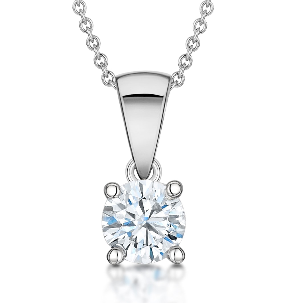 Diamond Solitaire Necklace 0.50ct Chloe Certified in Platinum  G/SI2