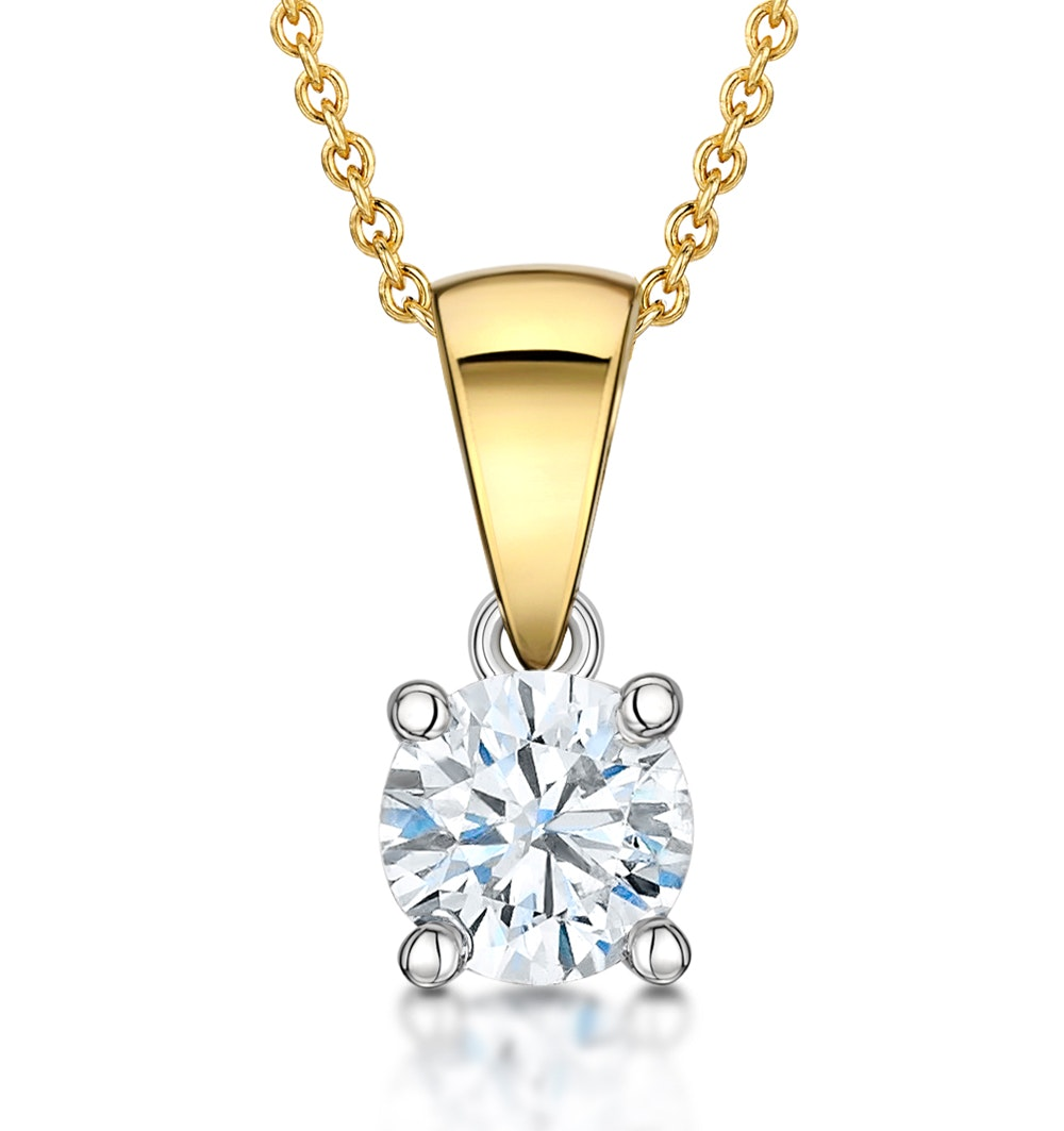 Chloe Certified 0.50ct Diamond Solitaire Necklace in 18K Gold  E/VS1