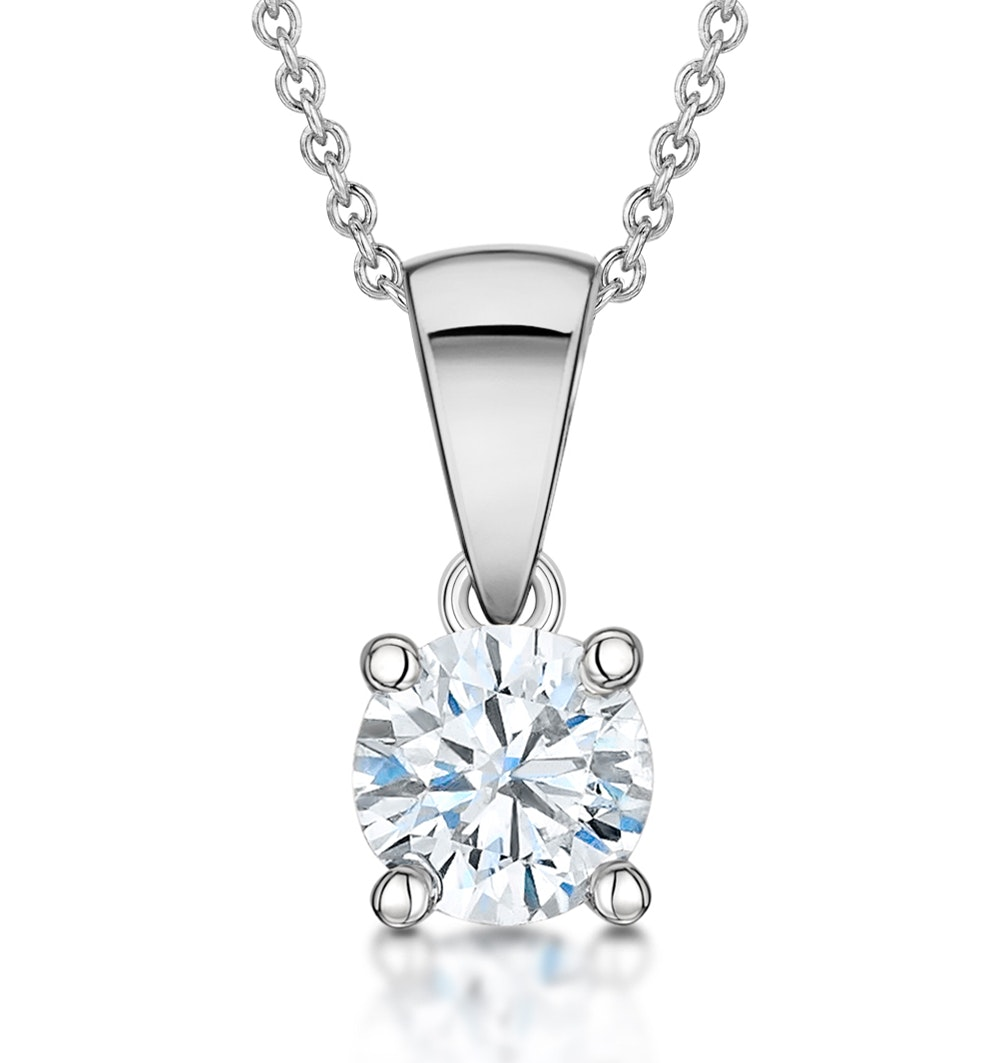 Diamond Solitaire Necklace 0.70ct Chloe Certified in Platinum  G/SI1