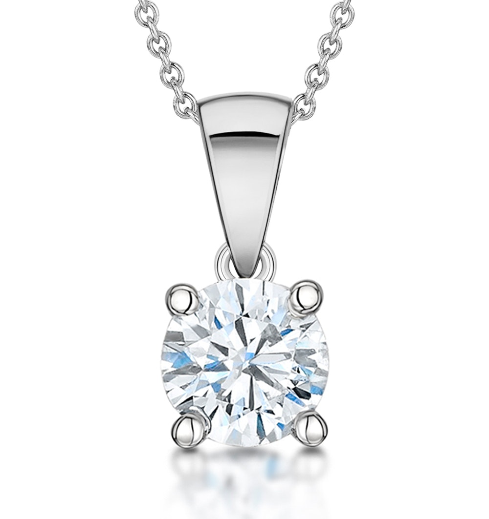 Diamond Solitaire Necklace 1.00ct Chloe Certified in Platinum  G/SI1