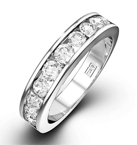 Rae Platinum Diamond Half Band Eternity Ring 1.00CT G/VS