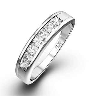 Princess Cut Half Eternity Rings