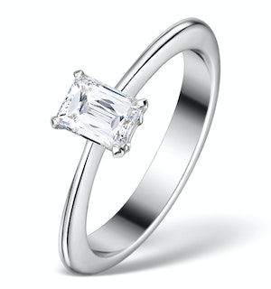 0.50CT IDEAL PRINCE CUT DIAMOND AND 18K WHITE GOLD H/SI RING