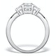 1ct Ideal Prince and Princess Cut Diamond and 18K White Gold H/SI Ring - image 3