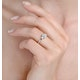 1ct Ideal Prince and Princess Cut Diamond and 18K White Gold H/SI Ring - image 2