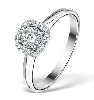 0.25CT DIAMOND ENGAGEMENT RING 18K WHITE GOLD GALILEO FT65