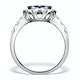 0.74ct Diamond 1.55ct Sapphire and 18K White Gold Cluster Ring - image 2