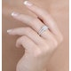 Halo Engagement Ring Galileo 0.90ct of Diamonds in 18K Gold - FT73 - image 3