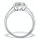 Halo Engagement Ring Galileo 0.90ct of Diamonds in 18K Gold - FT73 - image 2