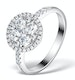 Halo Engagement Ring Galileo with 1ct of Diamonds in 18KW Gold - FT76 - image 1