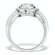 Halo Engagement Ring Galileo with 1ct of Diamonds in 18KW Gold - FT77 - image 2