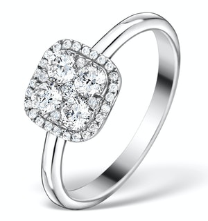 0.70CT DIAMOND ENGAGEMENT AND 18K WHITE GOLD GALILEO RING FT79