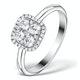 0.70ct Diamond Engagement and 18K White Gold Galileo Ring FT79 - image 1