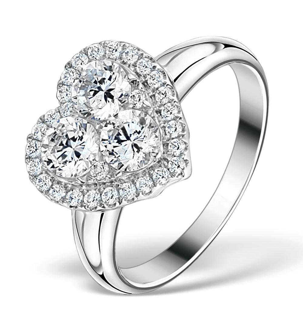 1.20ct Diamond and 18K White Gold Galileo Ring FT70