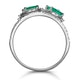 Emerald and Diamond Halo Statement Ring 18KW Gold - Asteria Collection - image 3
