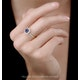Sapphire and Diamond Halo Square Ring 18KW Gold Asteria Collection - image 2