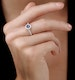 Sapphire and Diamond Halo Circle Ring 18KW Gold - Asteria Collection - image 2