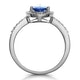 Tanzanite and Diamond Pear Halo Ring in 18KW Gold - Asteria Collection - image 3