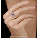 Tanzanite and Diamond Pear Halo Ring in 18KW Gold - Asteria Collection - image 2