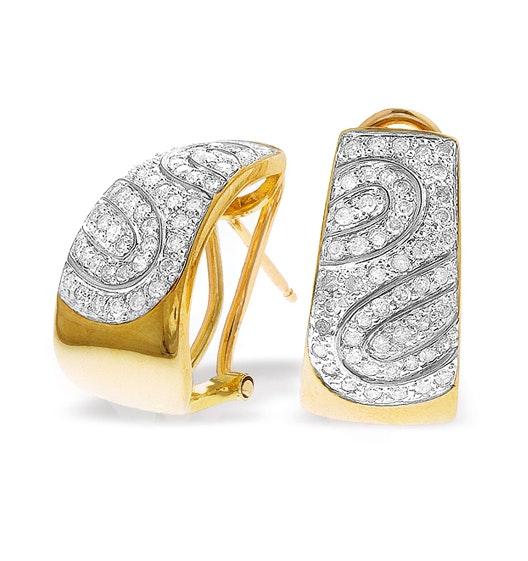 9K Gold Diamond Detail Earrings (0.74ct)