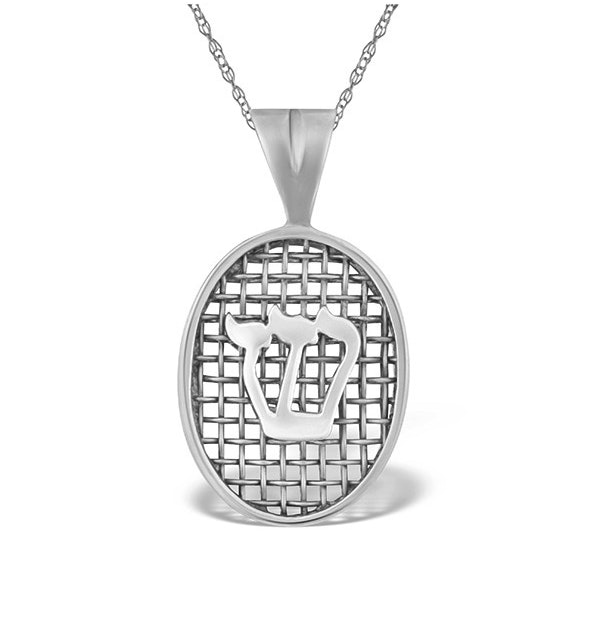 0.01ct Diamond and 9K White Gold Pendant - image 1