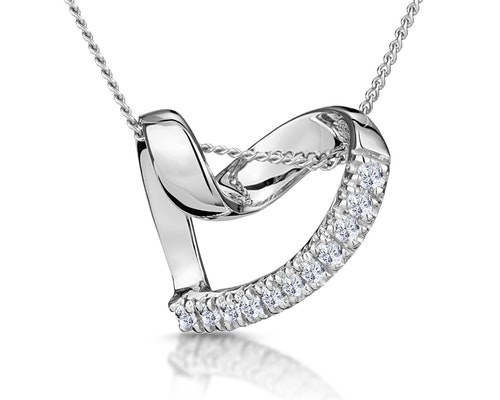 Diamond Heart Pendants And Necklaces
