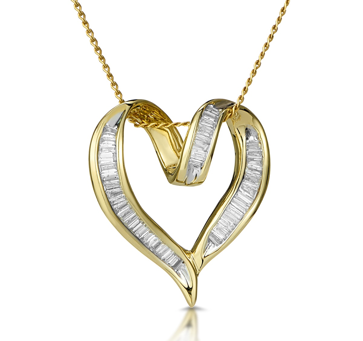Heart Pendant 0.33ct Diamond 9K Yellow Gold