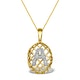 Diamond 0.01ct 9K Gold Initial Pendant - RTC-G4407 - image 1