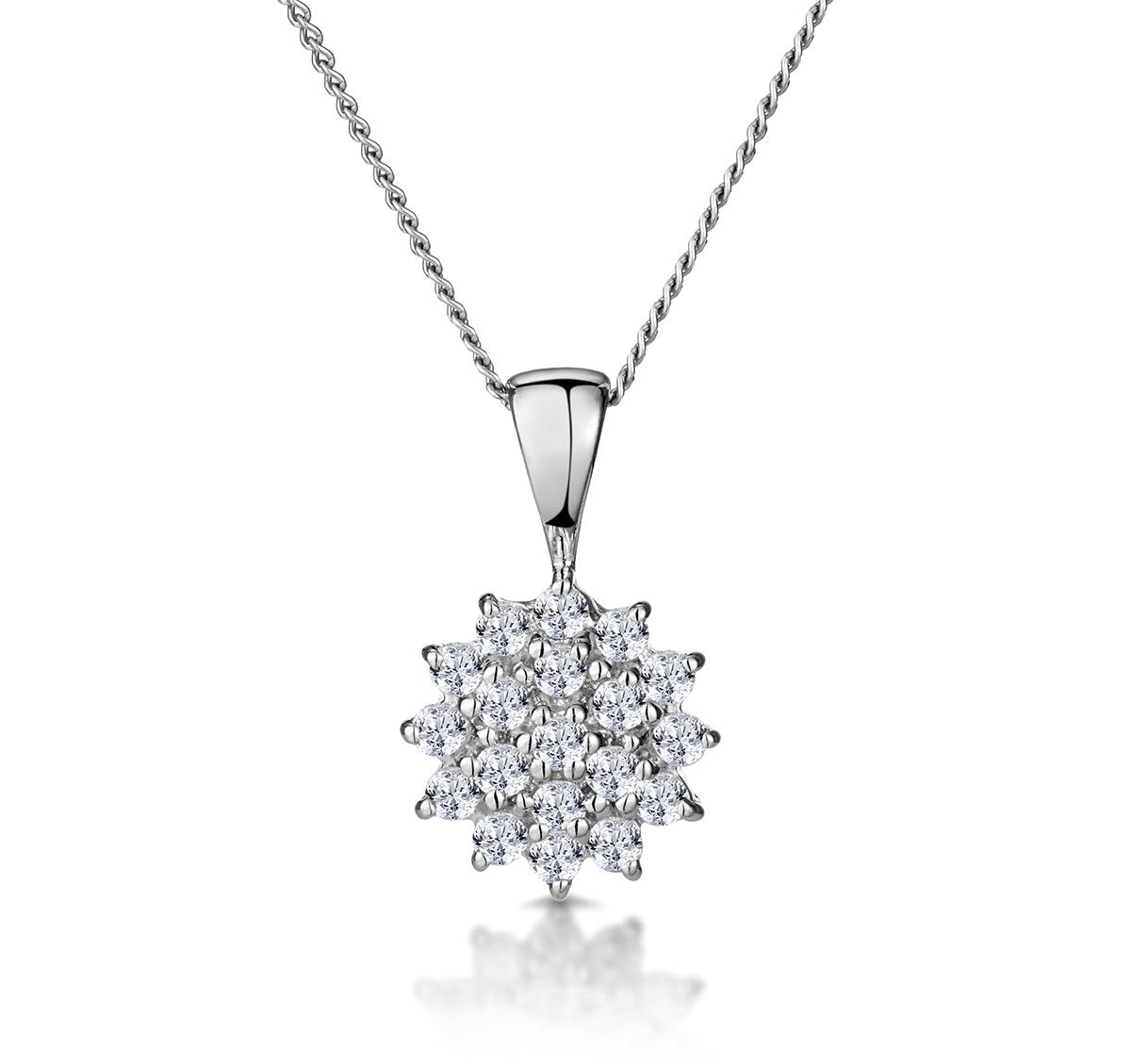9K White Gold Pendant With 0.25ct Diamonds
